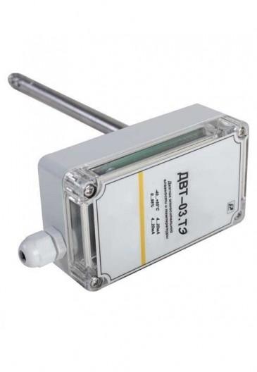 Датчик влажности и температуры канальный (экономичный) ДВТ-03. ТЭ. 3. К1. 160