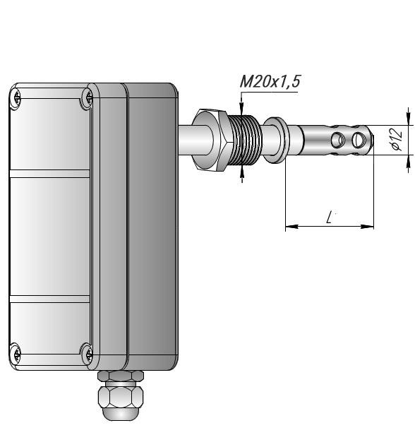Датчик влажности канальный со штуцером ДВТ-03.ТЭ