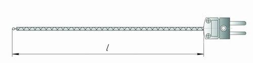Чертеж гибкой термопары К11-Р для измерителя IT-8