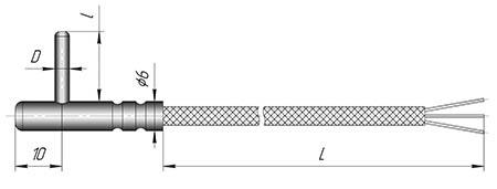 Датчик ТСП, ТСМ - К2Т для контроля температуры у животных и при сушке древесины