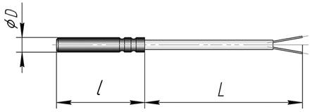 Термопара К2 для контроля температуры воздуха, массивных  изделий