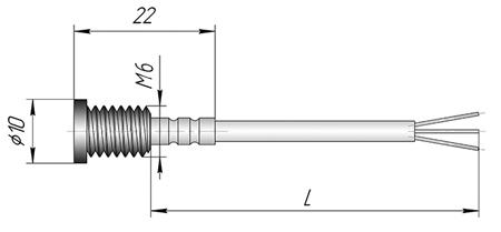 Датчик ТСП, ТСМ - К3Р для контроля температуры металлических конструкций
