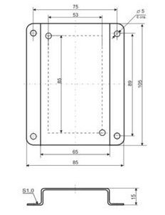 Кронштейн КД1-Н для ДВТ-03 и ИВИТ-М в настенном корпусе