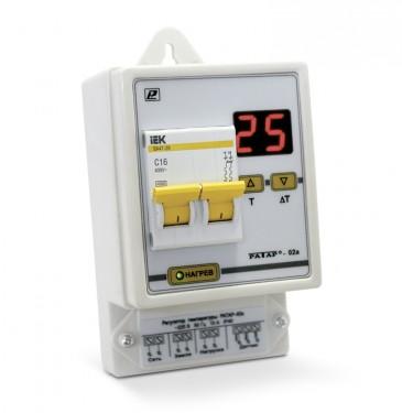 Терморегулятор Ратар-02А-1 для необслуживаемых помещений  (гаража, склада, погреба и т.д.)
