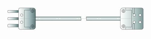 Чертеж удлинительного кабеля С1-2 для датчиков 50М, Pt100, Pt1000 для измерителя IT-8