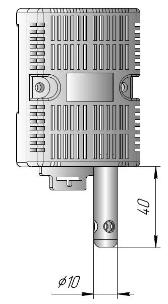 Датчик влажности на ДИН-рейку для шкафов автоматики и управления ДВТ-03.ТЭ