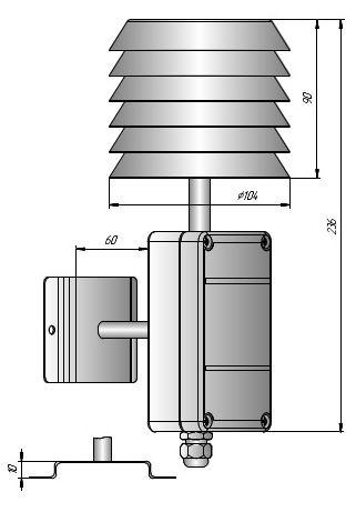 Измеритель влажности уличный ИВИТ-М.RS