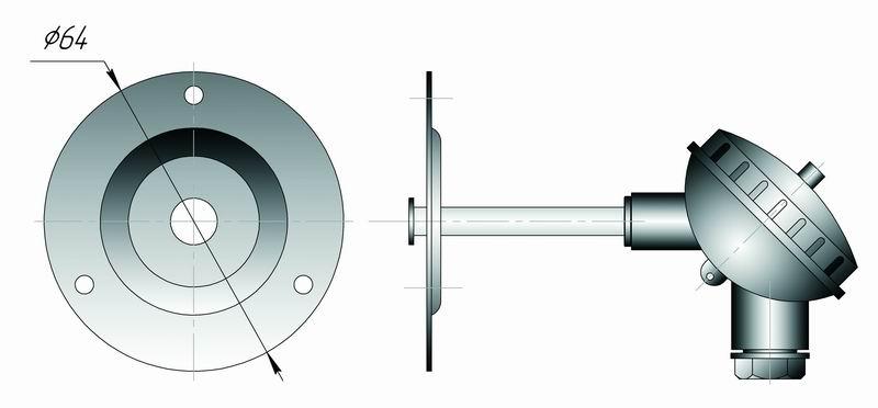 Даталоггер температуры EClerk-USB-2Pt-Kl для контроля плоских поверхностей