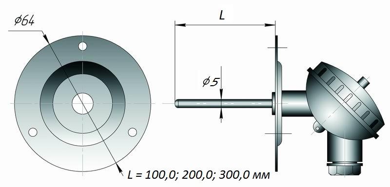 Даталоггер температуры EClerk-USB-2Pt-Kl для систем вентиляции и кондионирования