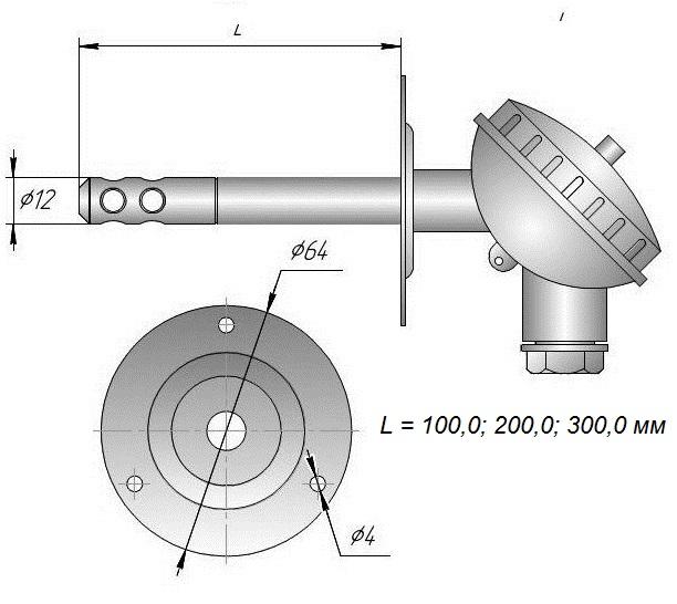 Даталоггер влажности и температуры EClerk-USB-RHT-Kl для воздуховодов в системах вентиляции и кондиционирования.