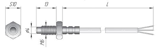 Термопара К3 для контроля температуры прессформ, подшипников