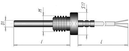 Термоэлектрический преобразователь кабельный ХА (ХК)-К4