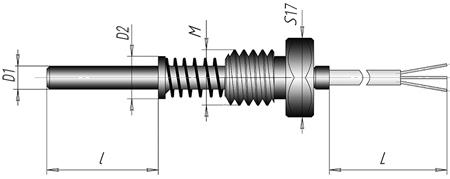Термоэлектрический преобразователь кабельный ХА (ХК)-К4.1
