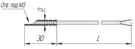 Термопара К5 для контроля температуры поверхности твердых тел