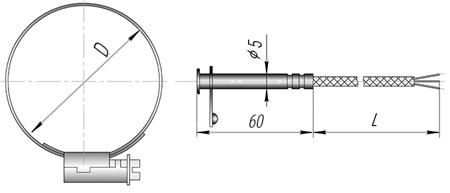 Термопреобразователь сопротивления для труб ТСМ (ТСП) - К9