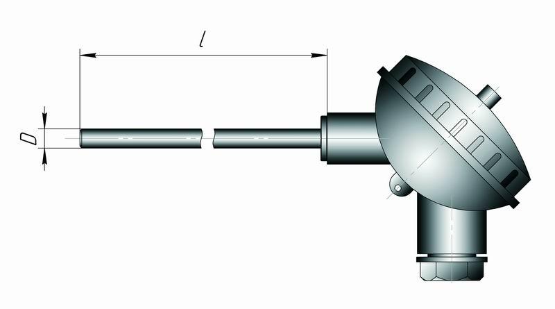 Датчики температуры с токовым выходом 4...20 мА для жидких и сыпучих сред Кл1-1