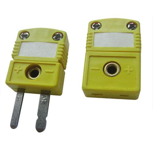 K-11/12 - плоский мини-разъем для подключения термопар типа XA(K), зеленый (желтый).