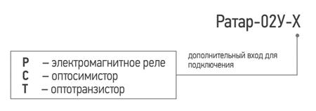 Условное обозначение терморегулятора со встроенным реле контроля уровня Ратар-02