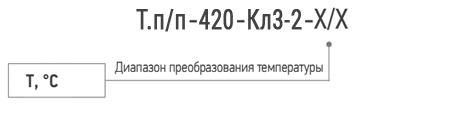 Обозначение при заказе термопреобразователя ТСМ (ТСП) - К0