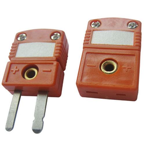 ZZ-M09-S - плоский мини-разъем, для подключения термопар типа ТПП (S), оранжевый.